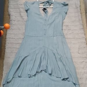 NWT! Blue polka dot dress with open back